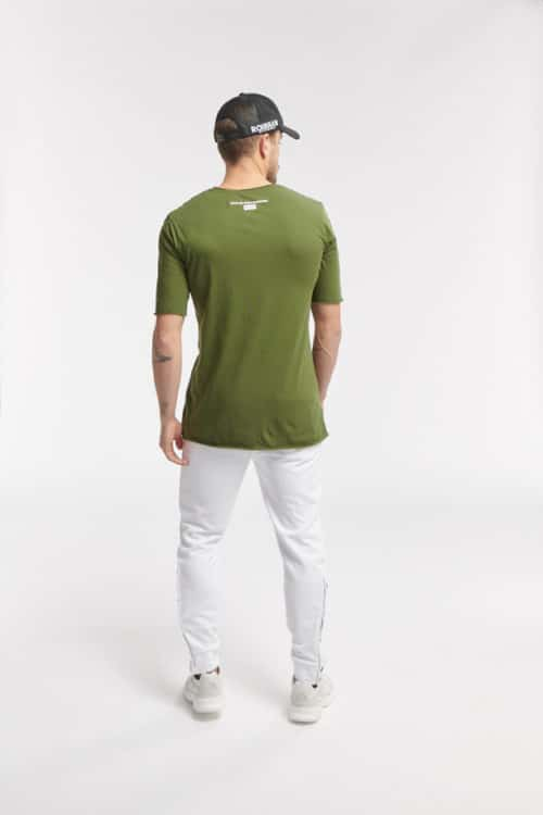 JOS SS TEE ARMY GREEN O3W ONCE WE WERE WARRIORS