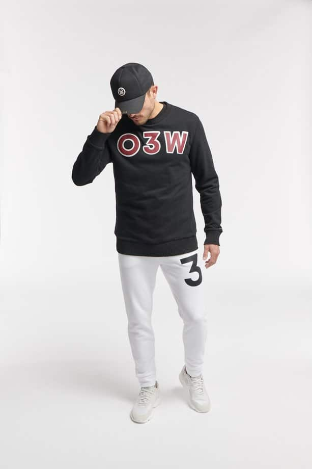 FAJE CREWNECK BLACK O3W ONCE WE WERE WARRIORS
