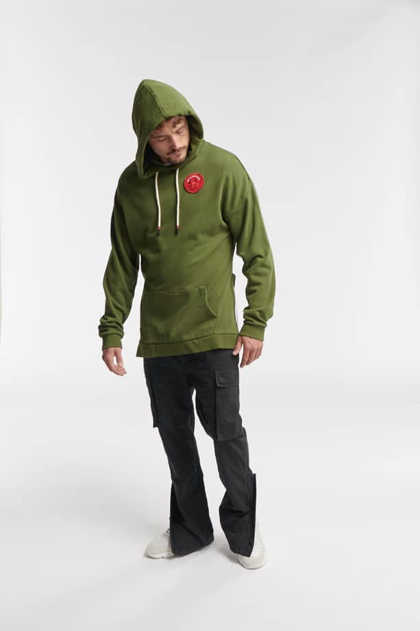 SON HOODIE ARMY GREEN O3W ONCE WE WERE WARRIORS