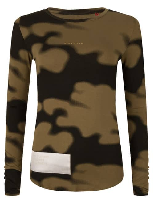 Rumi tee olive green camo print once we were warriors