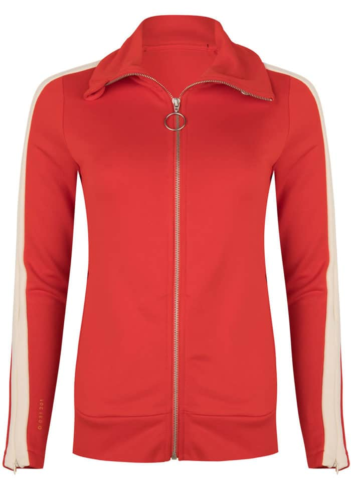 SAMI TRACK JACKET RED ONCE WE WERE WARRIORS TRACKSUIT WOMEN