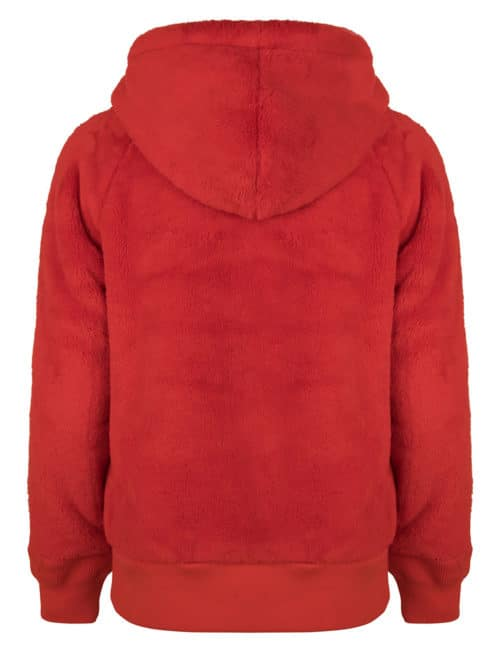 mashi teddy hoodie red fluffy once we were warriors