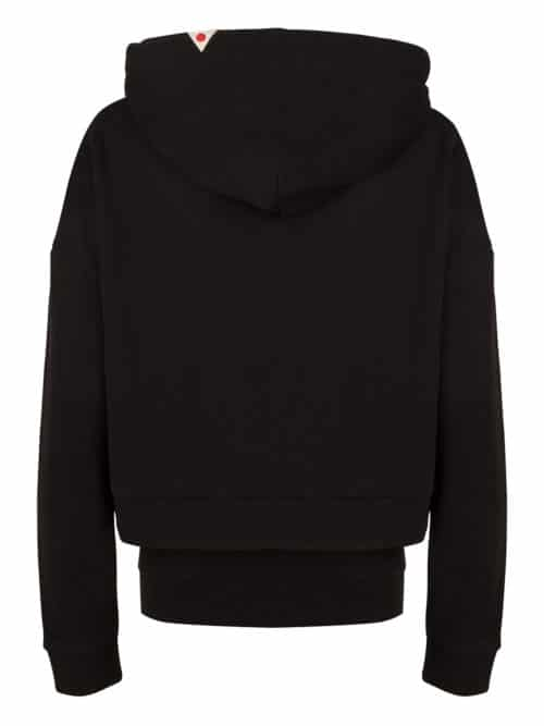 seini hoodie black two piece cropped once we were warriors