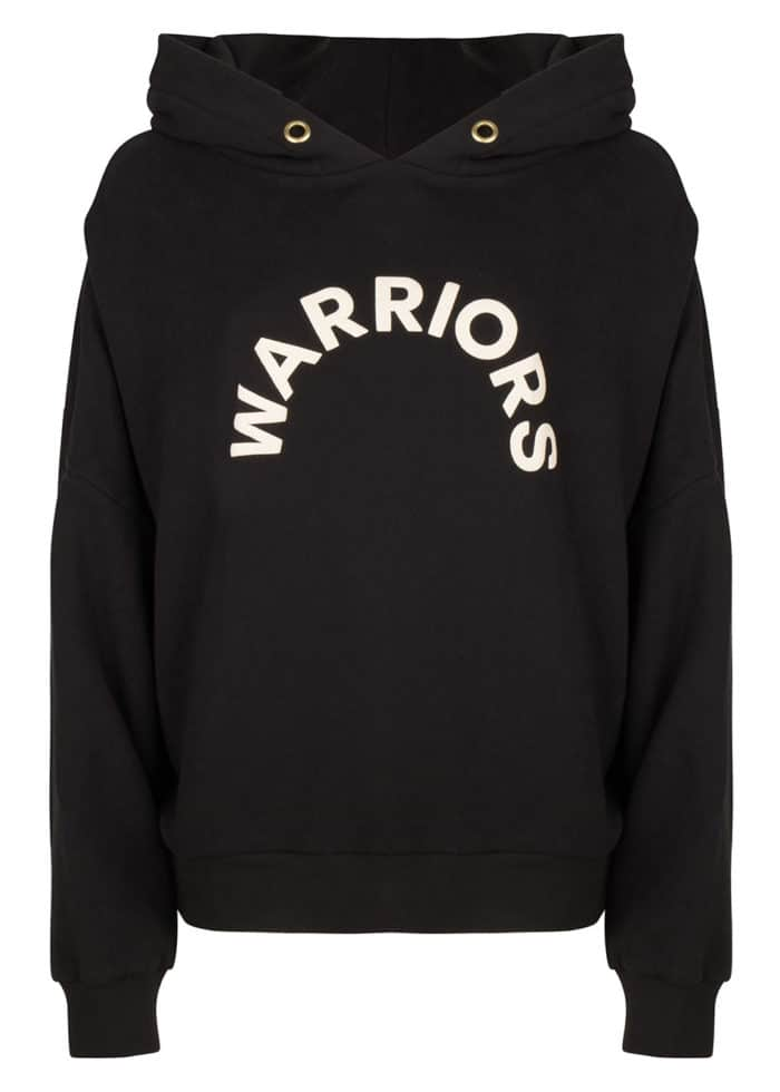 KATANA HOODIE BASIC OVERSIZED FIT WOMEN ONCE WE WERE WARRIORS BLACK