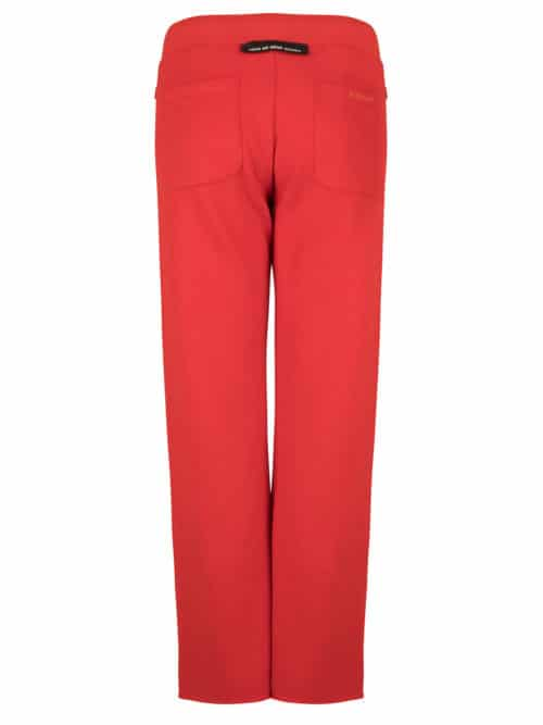 HANA FLARED JOGGER FIERY RED CROPPED FIT