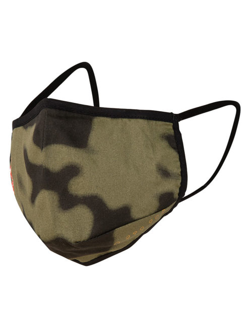 face cover mask camo olive green once we were warriors