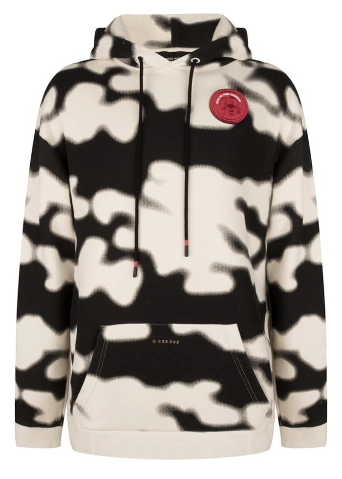 SONI CAMO HOODIE ANTIQUE WHITE ONCE WE WERE WARRIORS