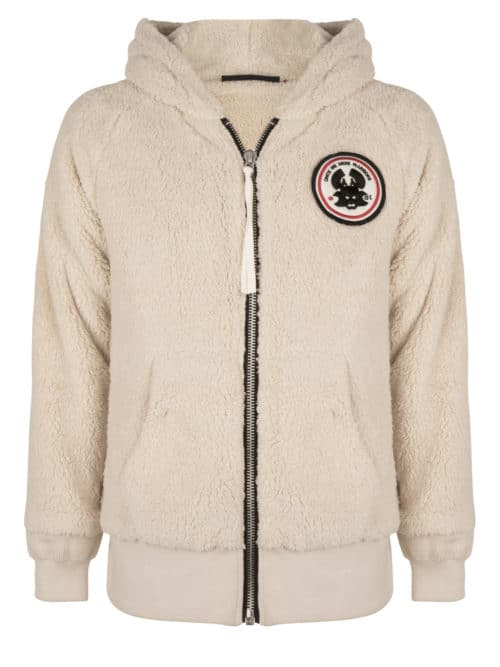 MASAHI TEDDY HOODIE ANTIQUE WHITE ONCE WE WERE WARRIORS