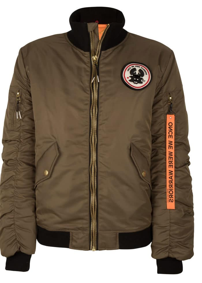 HOTAKA BOMBER JACKET KHAKI ONCE WE WERE WARRIORS