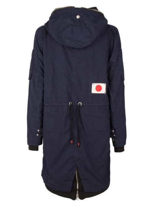 PARA2 PARKA JACKET DARK INDIGO ONCE WE WERE WARRIORS