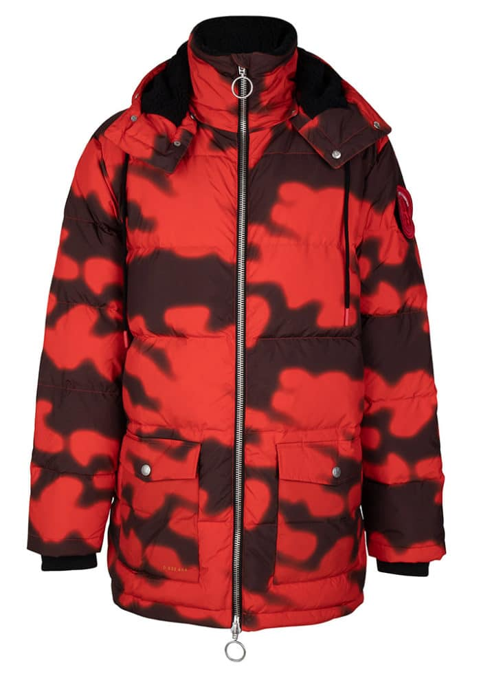 Soyo Camo PUFFA DOWN JACKET FIERY RED ONCE WE WERE WARRIORS