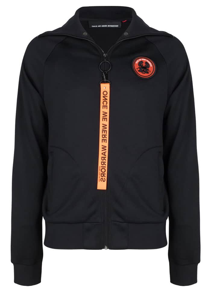 riku track jacket black once we were warriors