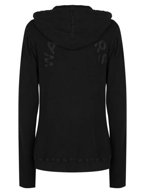 soyo cotton waffle hoodie black once we were warriors