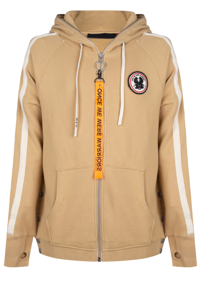 tokyo 2 full zip hoodie sand once we were warriors O3W
