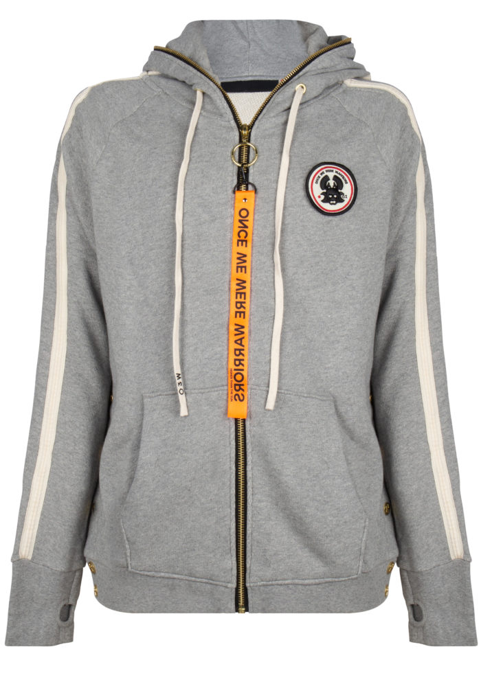 tokyo 2 full zip hoodie grey once we were warriors O3W