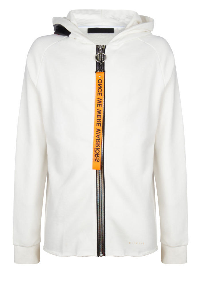 ayame 2 sweat hoodie white once we were warriors O3W