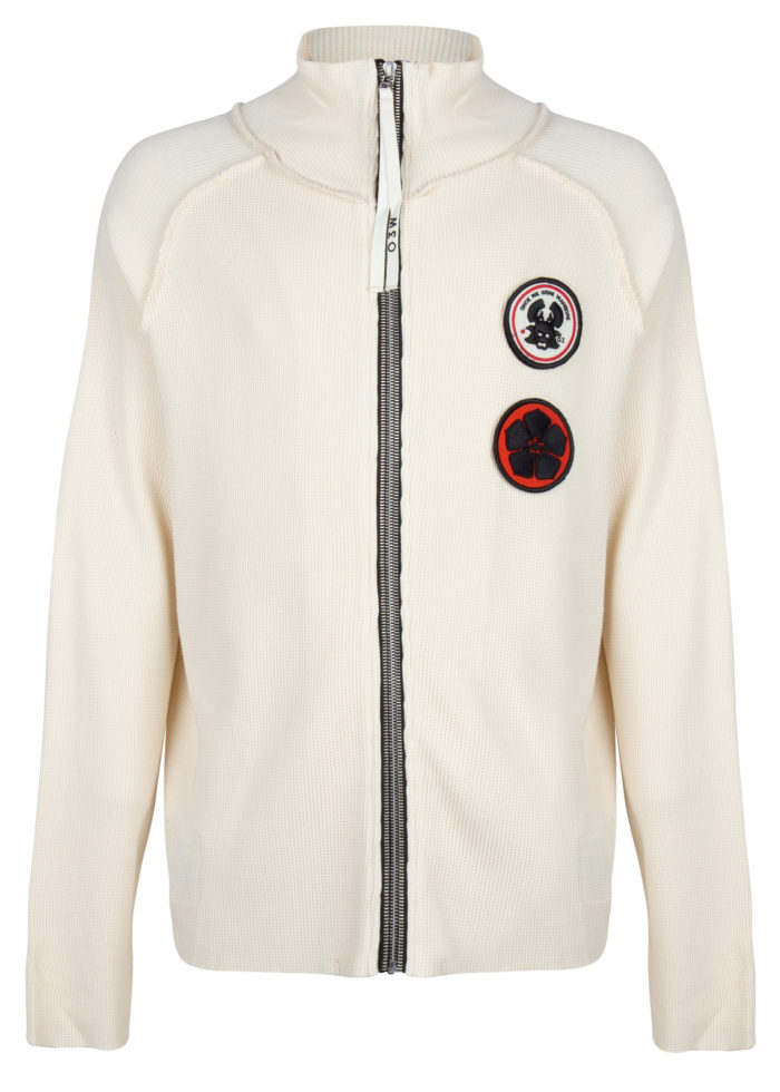 akio waffle track jacket antique white once we were warriors O3W