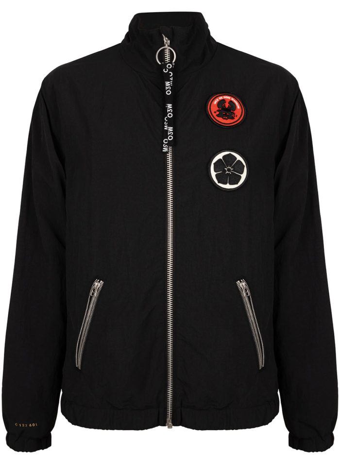 SHI BUI TRACK JACKET BLACK O3W ONCE WE WERE WARRIORS